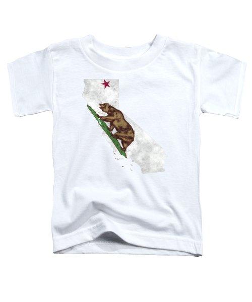 California Map Art With Flag Design Toddler T-Shirt