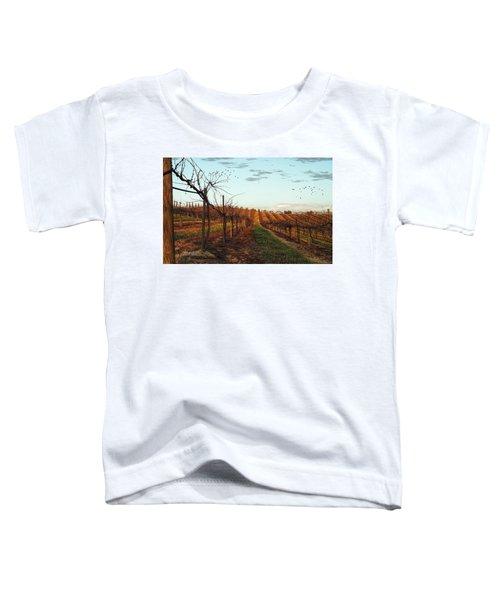 California Vineyard In Winter Toddler T-Shirt
