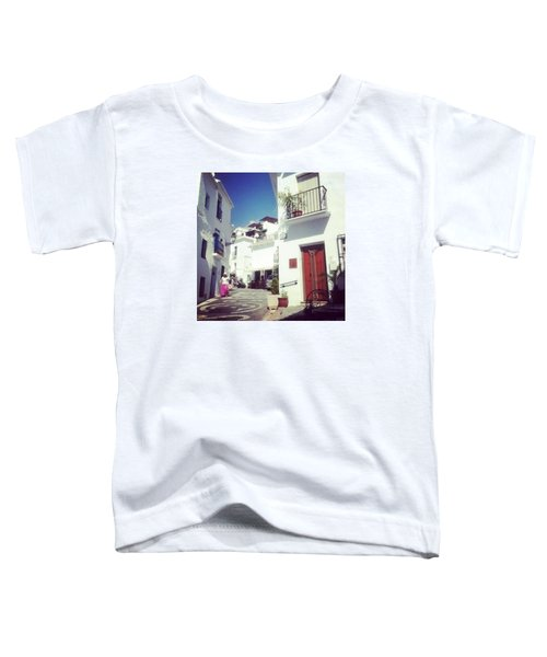 Calles De Frigiliana, Pueblo Blanco De Malaga - Spain Toddler T-Shirt