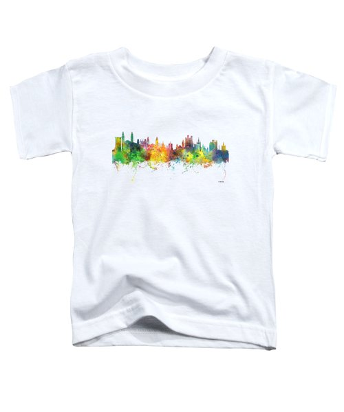 Cambridge England Skyline Toddler T-Shirt by Marlene Watson