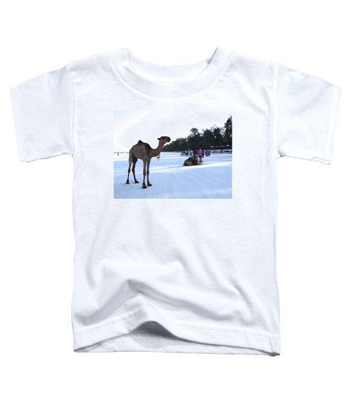 Camel On Beach Kenya Wedding 5 Toddler T-Shirt