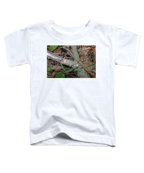 Camouflage And Mimicry Of The Woodcock Chick Toddler T-Shirt