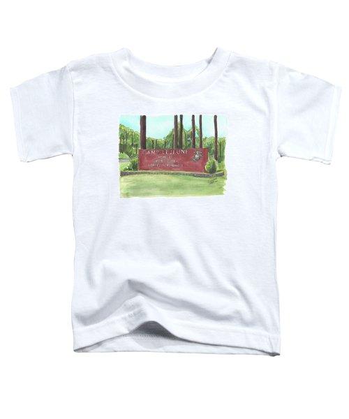 Camp Lejeune Welcome Toddler T-Shirt