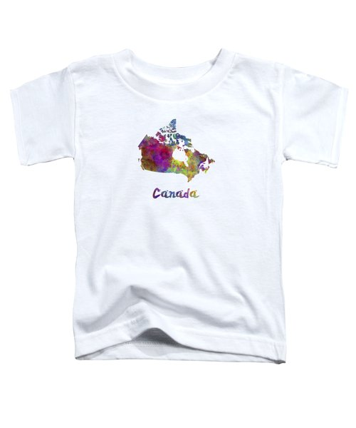 Canada In Watercolor Toddler T-Shirt