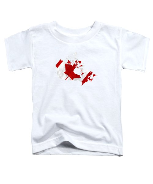 Canada Map Art With Flag Design Toddler T-Shirt