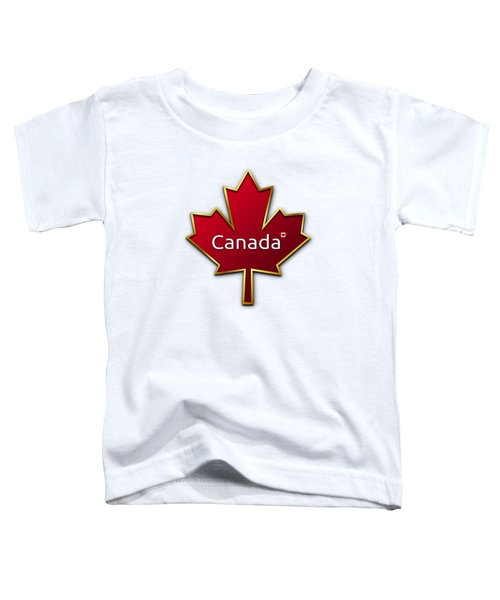Canada Red Leaf Toddler T-Shirt