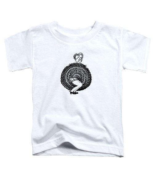Cancan Girl Blacktransparent Background Toddler T-Shirt