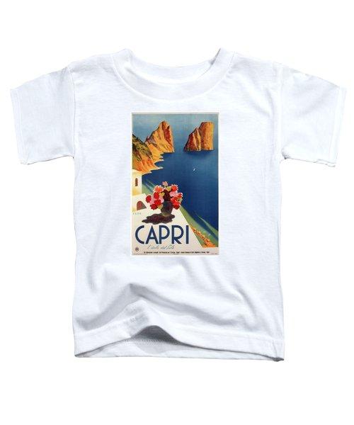 Capri Island, Bay Of Naples, Italy - Retro Travel Poster - Vintage Poster Toddler T-Shirt