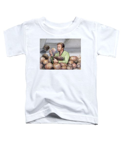 Captain Kirk And Tribbles Toddler T-Shirt
