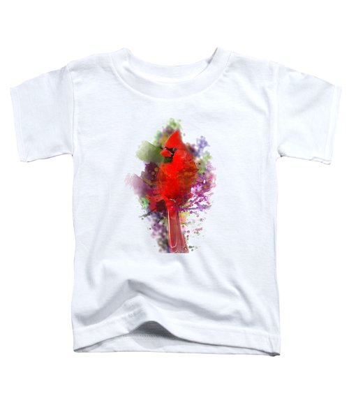 Cardinal Watercolor Toddler T-Shirt