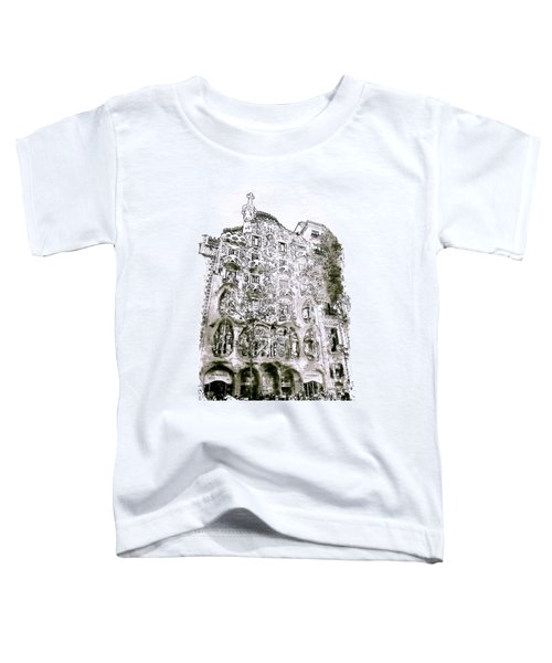 Casa Batllo Barcelona Black And White Toddler T-Shirt by Marian Voicu