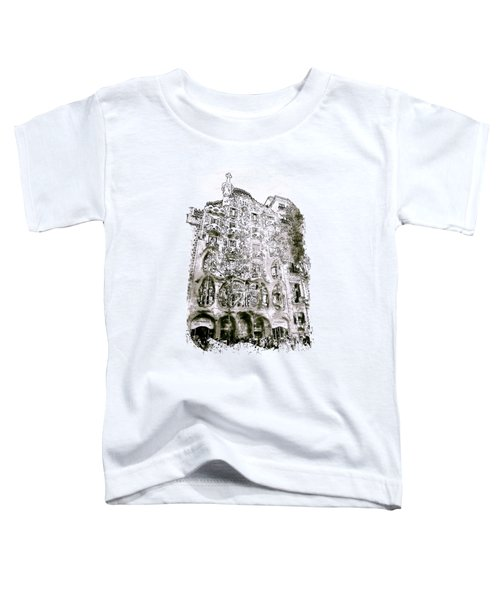 Casa Batllo Barcelona Black And White Toddler T-Shirt
