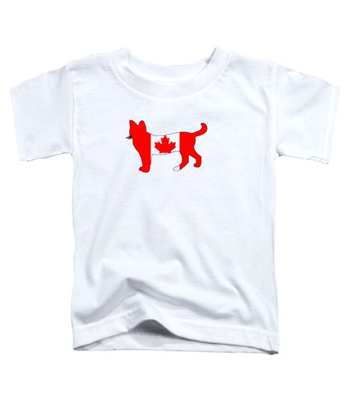 Cat Canada Toddler T-Shirt by Mordax Furittus