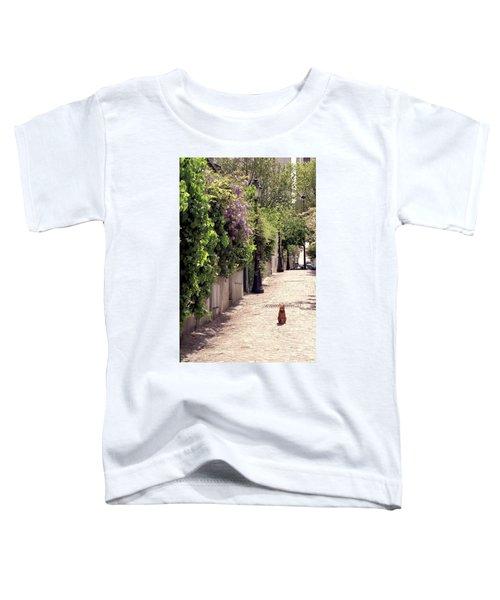 Cat On Cobblestone Toddler T-Shirt