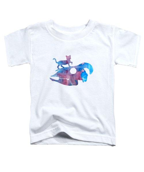Cat On Goat Skull Toddler T-Shirt