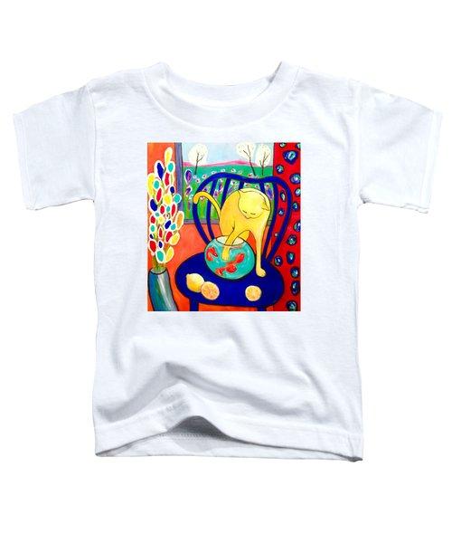 Cat - Tribute To Matisse Toddler T-Shirt