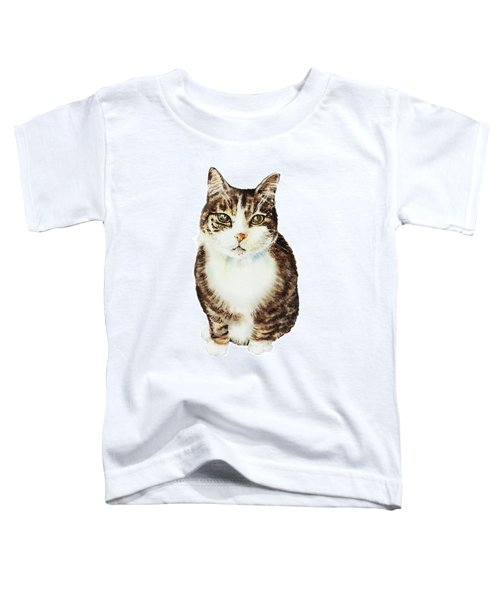 Cat Watercolor Illustration Toddler T-Shirt