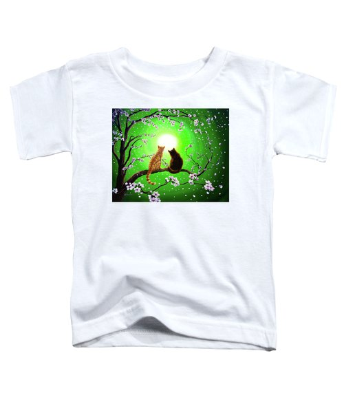 Cats On A Spring Night Toddler T-Shirt