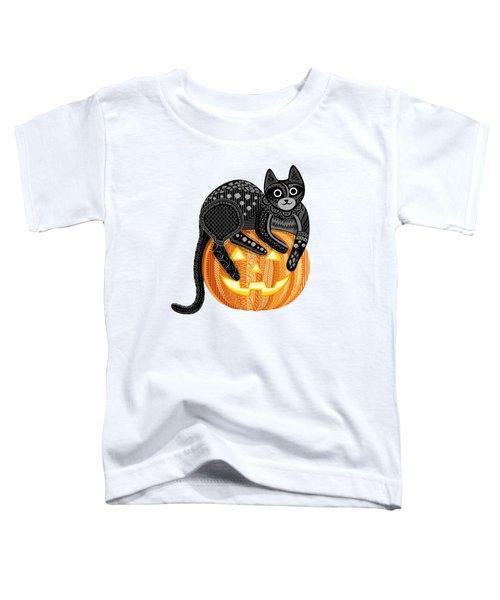 Cattober Toddler T-Shirt by Veronica Kusjen