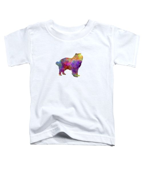 Caucasian Shepherd Dog In Watercolor Toddler T-Shirt by Pablo Romero
