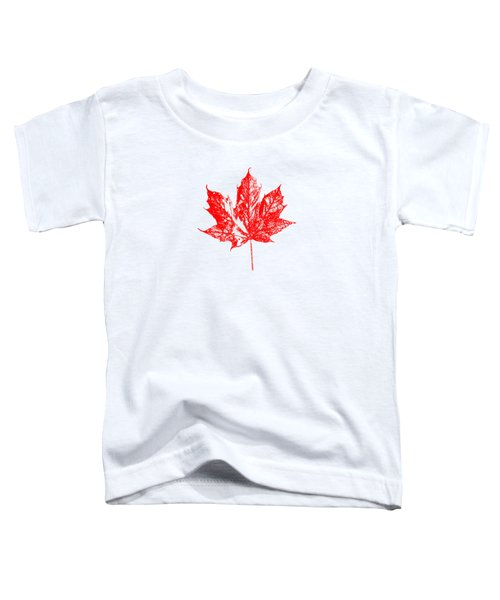 Celebrate Canada 150 Maple Leaf Toddler T-Shirt