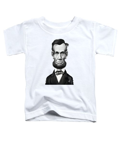 Celebrity Sunday - Abraham Lincoln Toddler T-Shirt by Rob Snow
