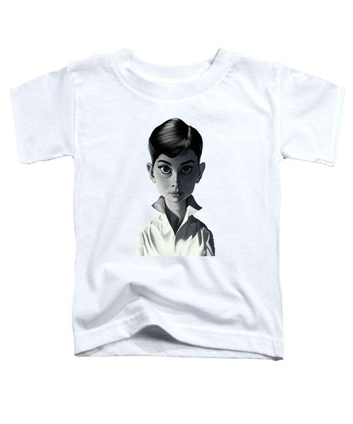 Celebrity Sunday - Audrey Hepburn Toddler T-Shirt by Rob Snow