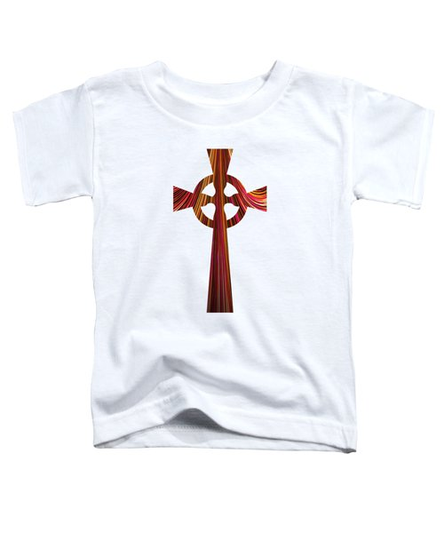 Celtic Cross With Fractal Abstract Fill Toddler T-Shirt