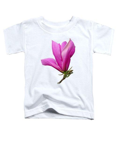 Cerise Pink Magnolia Flower Toddler T-Shirt