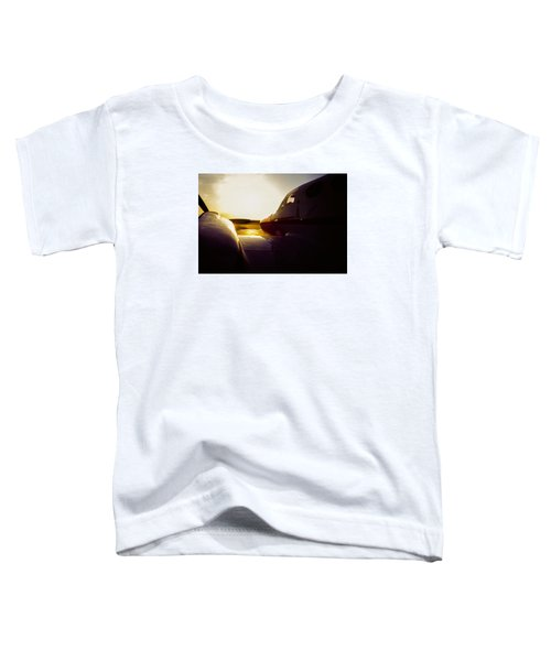 Cessna 421c Golden Eagle IIi Silhouette Toddler T-Shirt