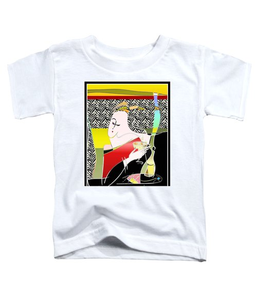 Champagne For One At The Zebra Lounge Toddler T-Shirt