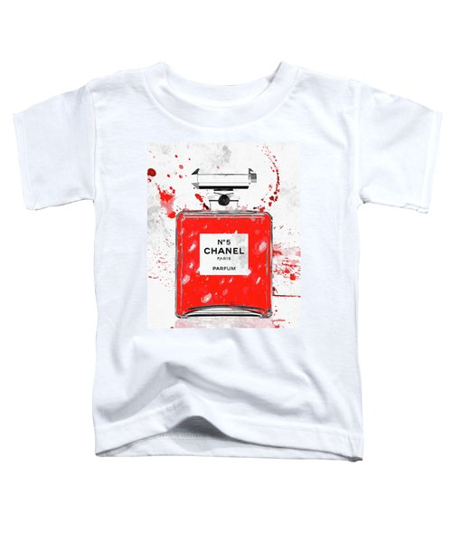 Chanel No. 5 Red Toddler T-Shirt