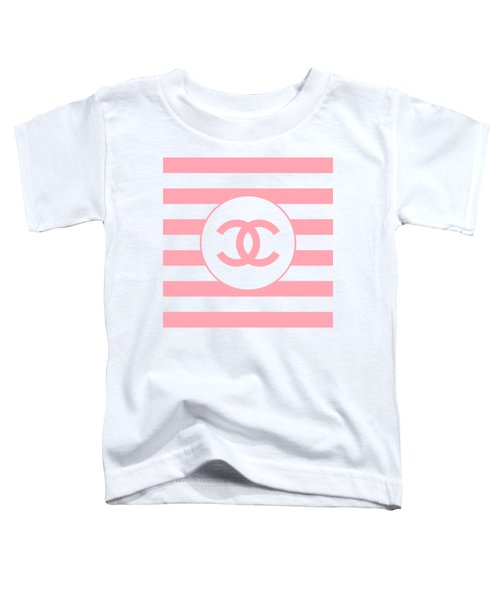 Chanel - Stripe Pattern - Pink - Fashion And Lifestyle Toddler T-Shirt