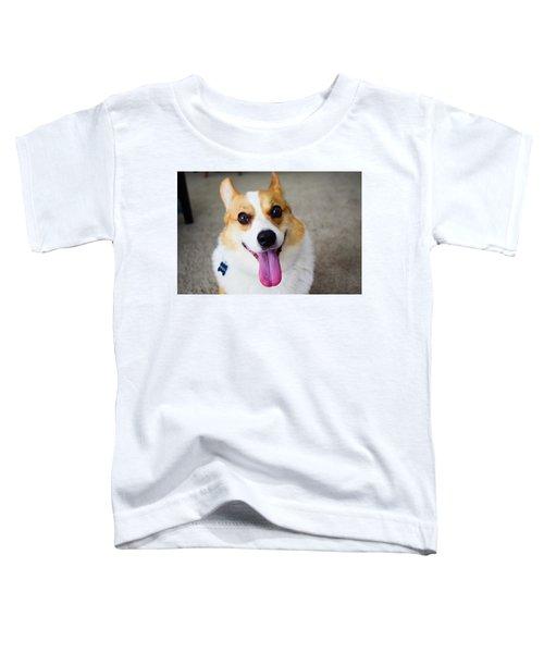 Charlie The Corgi Toddler T-Shirt