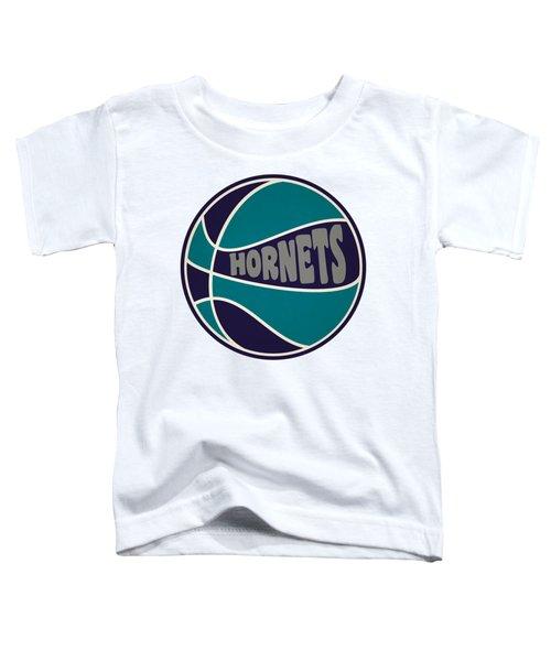 Charlotte Hornets Retro Shirt Toddler T-Shirt by Joe Hamilton