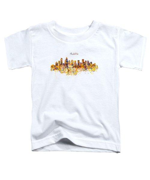 Charlotte Watercolor Skyline Toddler T-Shirt