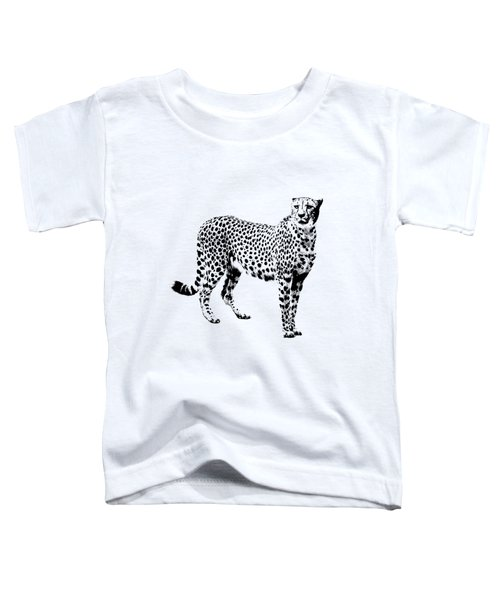 Cheetah Cutout Toddler T-Shirt by Greg Noblin