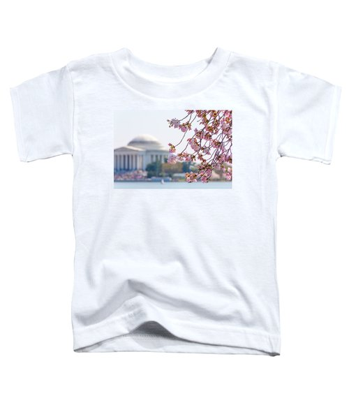 Cherry Blossoms And Jefferson Memorial Toddler T-Shirt