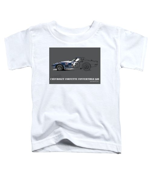 Chevrolet Corvette Convertible L88 1968, Ink And Markers Art Print Toddler T-Shirt