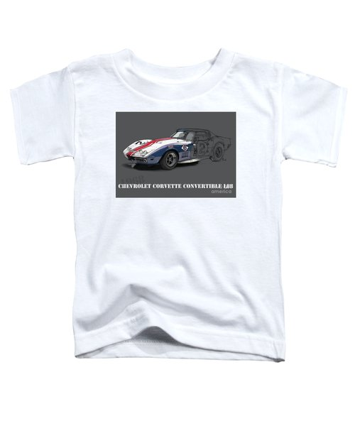 Chevrolet Corvette Convertible L88 1968,original Fast Race Car Toddler T-Shirt