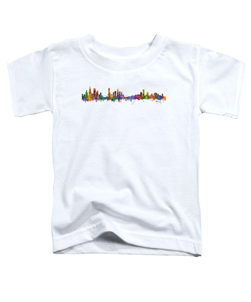Chicago And Milwaukee Skyline Mashup Toddler T-Shirt