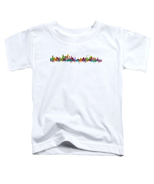 Chicago And St Louis Skyline Mashup Toddler T-Shirt by Michael Tompsett