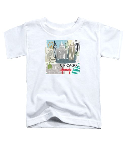 Chicago Cityscape- Art By Linda Woods Toddler T-Shirt