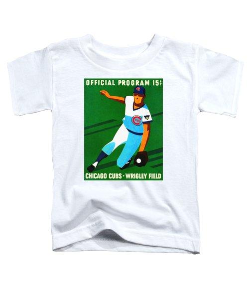 Chicago Cubs 1972 Official Program Toddler T-Shirt