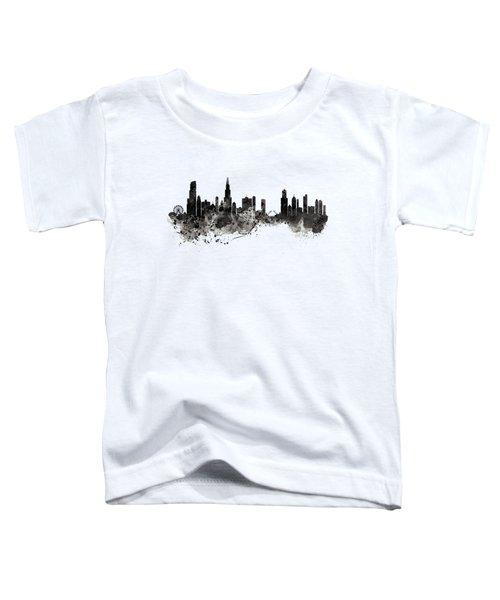 Chicago Skyline Black And White Toddler T-Shirt