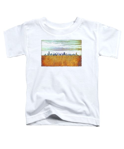 Chicago Skyline Toddler T-Shirt by Di Designs
