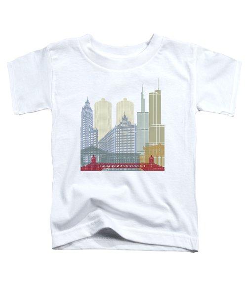 Chicago Skyline Poster Toddler T-Shirt