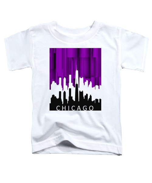 Chicago Violet In Negative Toddler T-Shirt by Alberto RuiZ