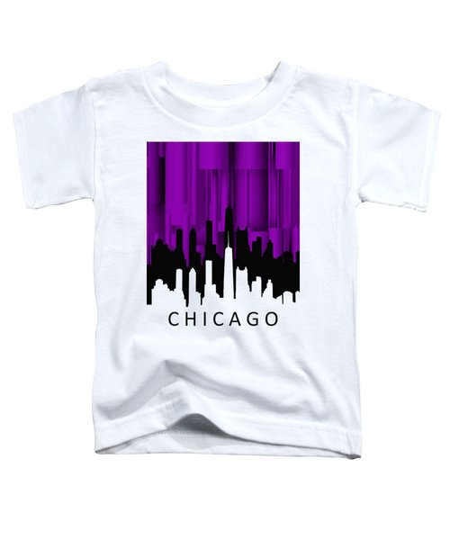 Chicago Violet Vertical  Toddler T-Shirt by Alberto RuiZ