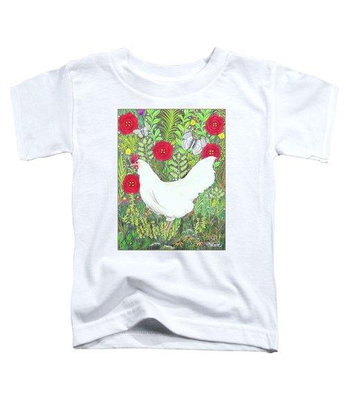 Chicken With Millefleurs And Butterflies  Toddler T-Shirt